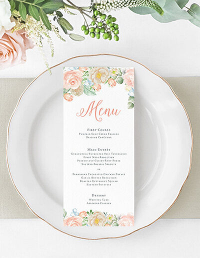 peach-dusty-blue-floral-menu