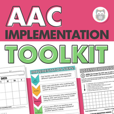 AAC implementation toolkit for speech therapy