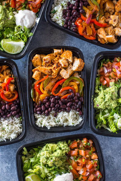 chicken burrito bowls