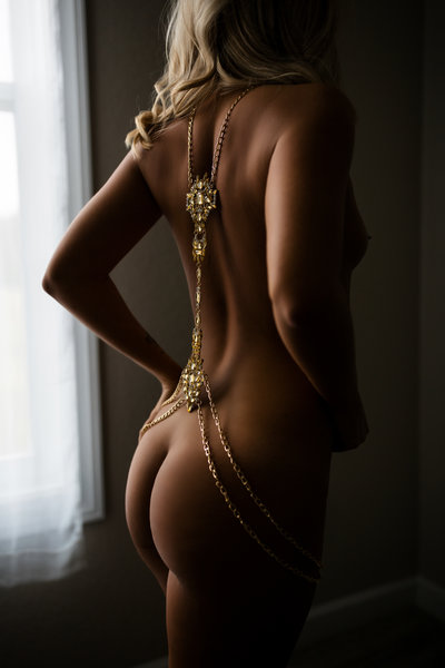 Boudoir Photography with Body Jewelry