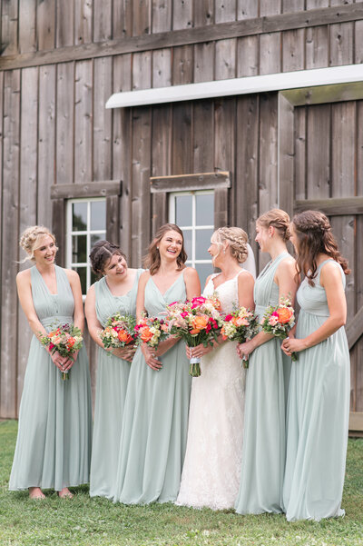 outdoor ceremony blush dusty blue Heritage Alpaca Farm wedding indiana wedding venue indiana wedding photographer rose courts photography