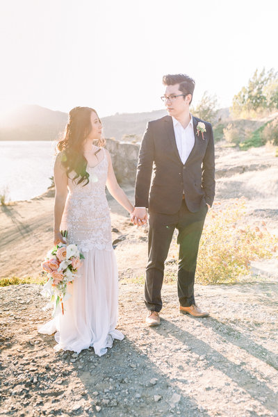 Couple Elopement at Cascade Locks, Oregon