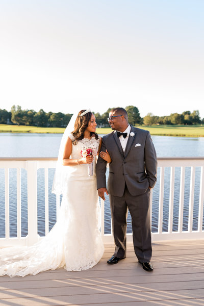 A bride and groom at the Dominion Club in Richmond