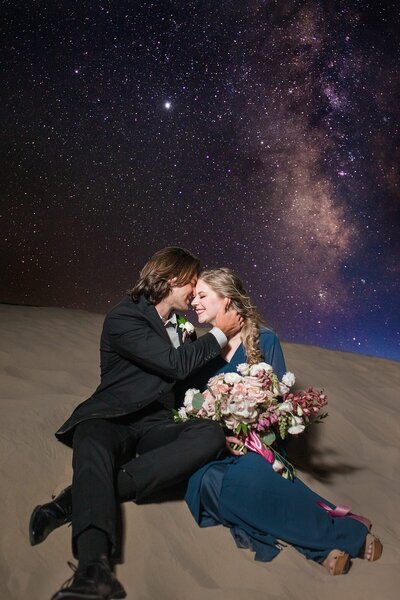 Milky Way engagement session at little sahara