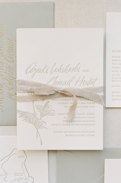 Elegant, modern, wedding invitations