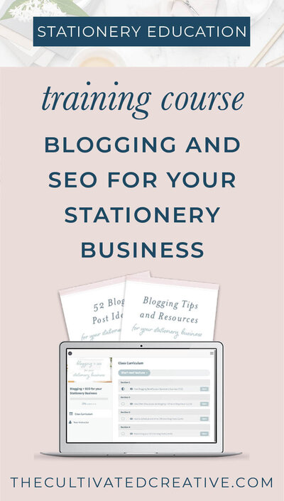 Have you ever wondered how to organically drive traffic to your stationery website? Google loves websites that have plenty of content for it to crawl and distribute out onto the search engines. Blogging is prime real estate for this. And no, blogging isn't dead. And yes, you can blog about plenty as a stationery designer! Created by Heather O'Brien Design #floridaweddingvendor #jacksonvilleweddingvendor #jacksonvilleflorida #weddingstationery #seotraining #seotips #bloggingtips #howtosetupablog