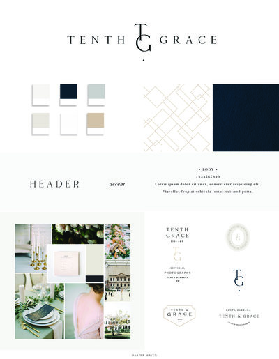 Tenth & Grace Brand Board Concept