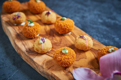 Canapes on a tray