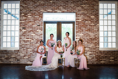 Bridesmaids at Dogwood Venue, Hattiesburg MS, Mississippi Wedding