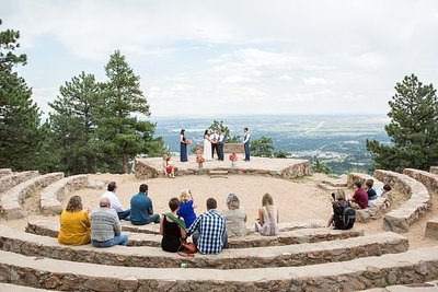 mountain elopement at Sunrise Amphitheater in Boulder Colorado