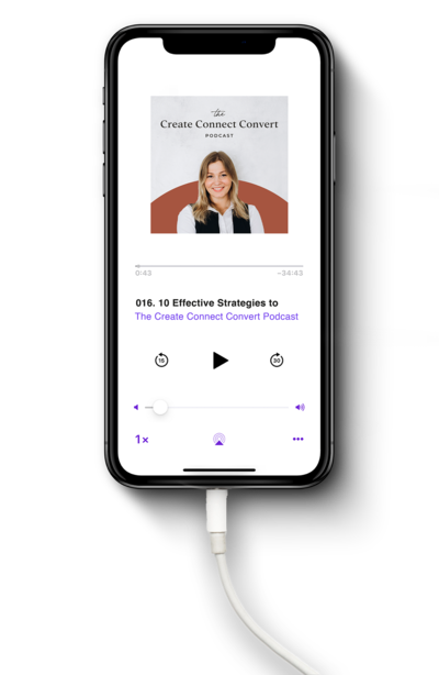 Create Connect Convert Podcast_iPhone Mockup