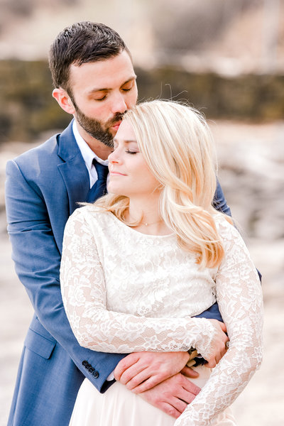 romantic beach engagement session in hudson valley, new york