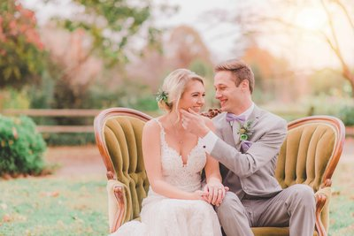 nc wedding photographer captures authentic laughs between bride and groom