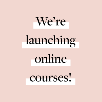 We're Launching Courses