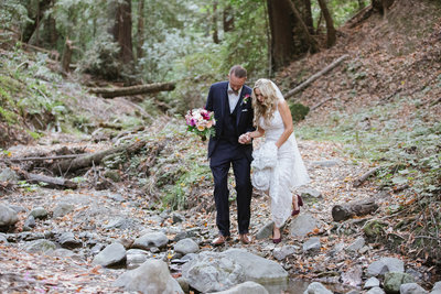 Boho bride and groom photos