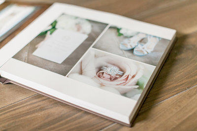 Picture of a custom wedding album