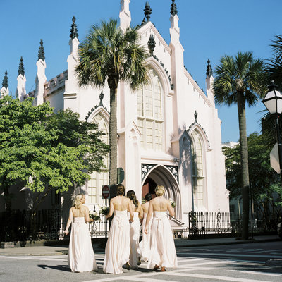 Historic Church Wedding Venue in Charleston, French Huguenot Church by Philip Casey