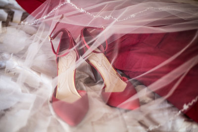red wedding shoes, vintage wedding