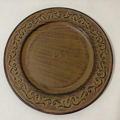shabby chic charger plate
