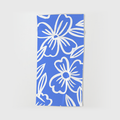 PaceCreative-blue-floral-lines-no-4-beach-towels
