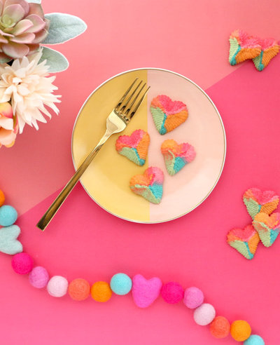 How to Make Rainbow Heart Spritz Cookies-8
