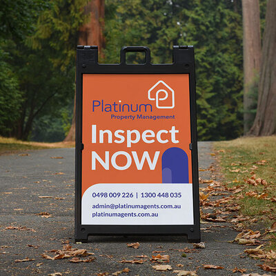 Platinum Property A-Frame Sign by The Brand Advisory