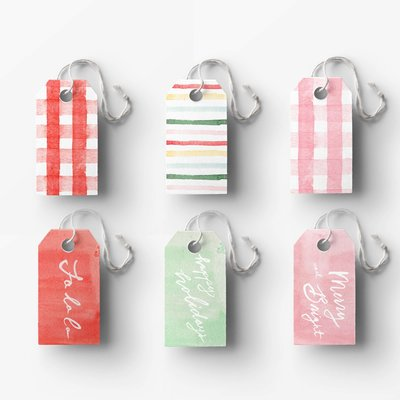 Assorted gift tags low res mockup square