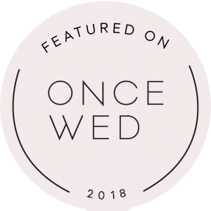 Featured on Once Wed Badge