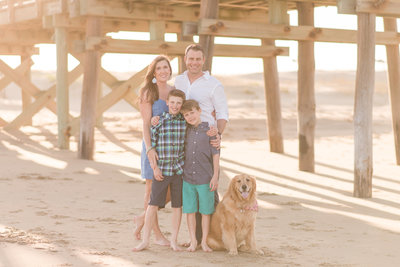 Kelley Stinson and her family at Sandbridge Beach