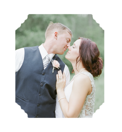 Bride and Groom Nose Kissing