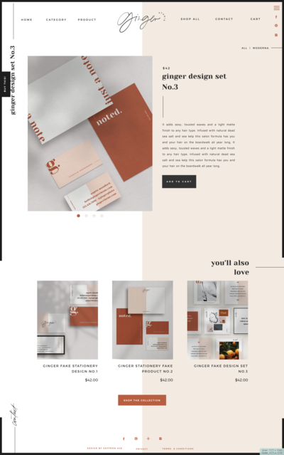 Modern and Bold Stationery Design Template