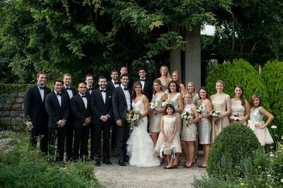 Bridal party at Eolia Mansion in Waterford, CT