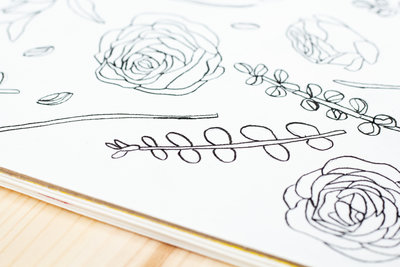 flowers surface design drawings 2