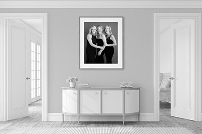 family portraits of mother and daughters
