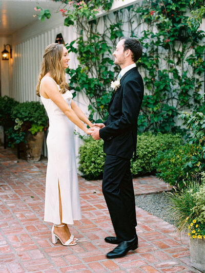 wedding in newport beach at a private beach house