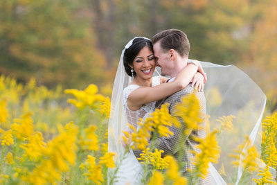 Davis West Virginia couple, fall wedding