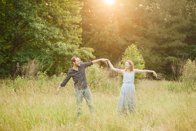 fun engagement session cary nc