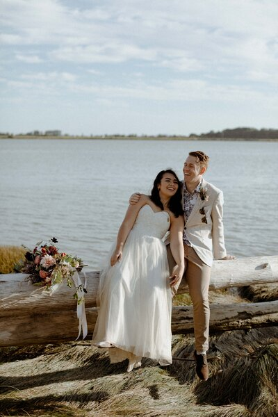 Steveston Beach Wedding
