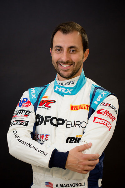 Anthony race car driver headshot