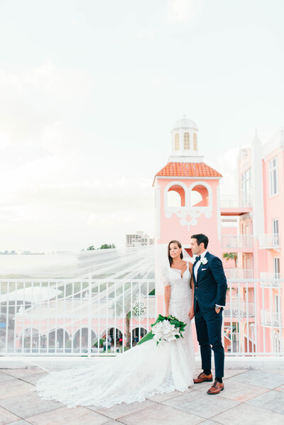 beautiful couple at the don cesar in St petersburg