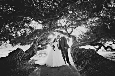 Amazing wedding photo at Bahia Resort in San Diego