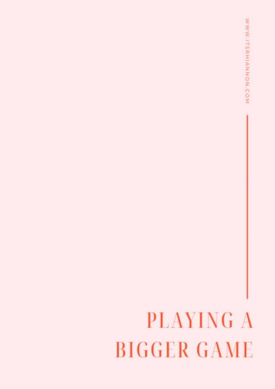 Playing Bigger - Workbook