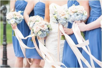 bridesmaids flowers on wedding day at Ryan Nicholas Inn