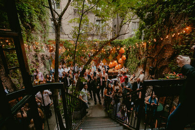 Intimate Outdoor Garden Party in New York at Norwood