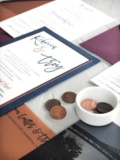 copper-and-navy-wedding-invitation