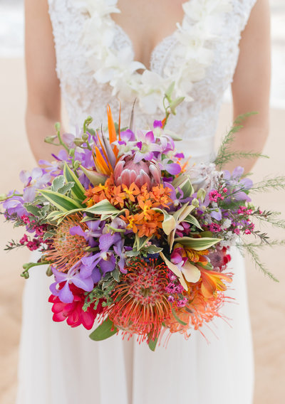 Rustic Hawaiian Maui wedding Bouquet
