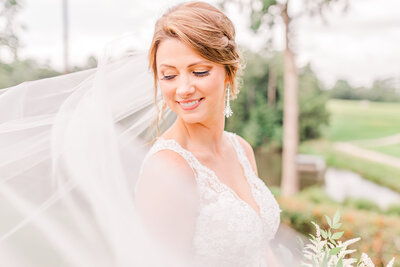 A photo of a bride before her wedding in Atlanta Georgia by Jennifer Marie Studios.
