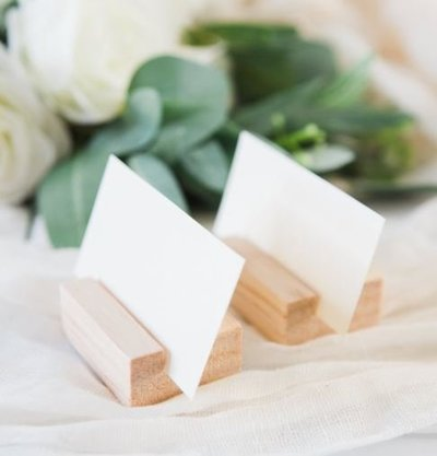 place card - wood