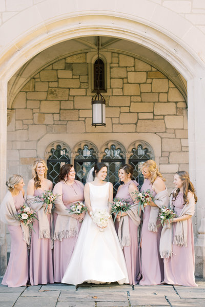 wedding-bridal-party-photography-by-church