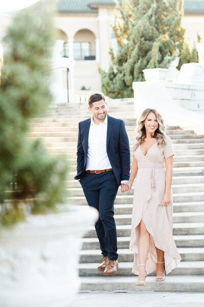Bride and Groom engagement session by Cleveland Wedding Photographers